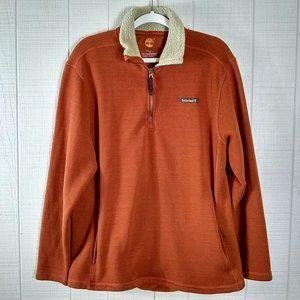 Timberland Fleece Sweater 1/4 Zip Sherpa Collar